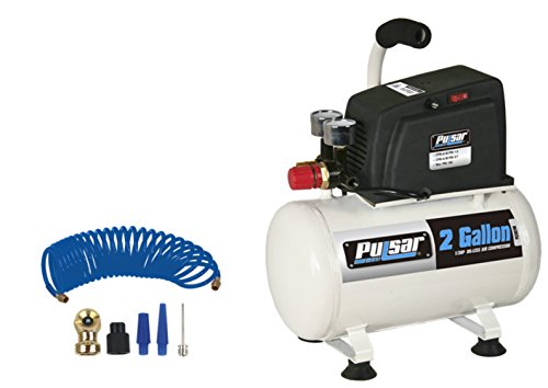 Pulsar Products PCE6021K 2 Gallon Air Compressor Complete (with Hose and Nozzle (Best Pulsar Air Compressors)