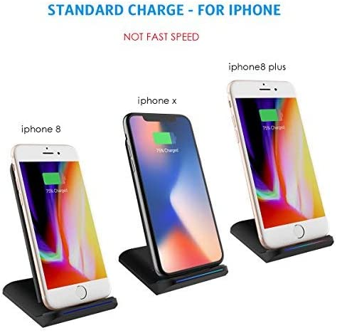 Xs Max XS XR X 8 8 Plus,Samsung Galaxy S8 S8 Note 9 10W Qi Certified Wireless Charging Pad Compatible iPhone X Criacr Wireless Charger No AC Adapter Android Smartphones