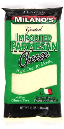 Italian Parmesan Cheese Italian - Milano's Parmesan Cheese Bags, Imported Grated, 16 Ounce