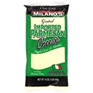 Milano's Parmesan Cheese Bags, Imported Grated, 16 Ounce