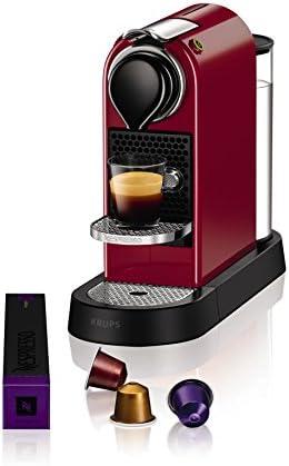 Nespresso Krups Citiz XN7405 - Cafetera monodosis de cápsulas Nespresso, compacta, 19 bares, apagado automático ...