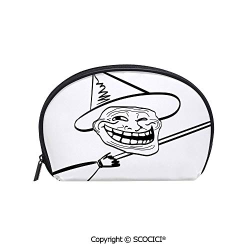 SCOCICI Durable Printed Makeup Bag Storage Bag Halloween Spirit Themed Witch Guy Meme Lol Joy Spooky Avatar Artful Image for Women Girl Student]()