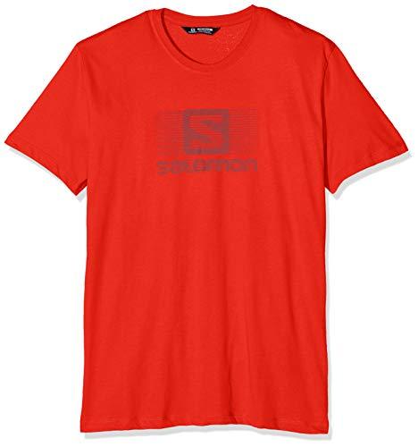 Ss fiery Logo shirt Red T Blend Salomon Rouge Homme Tee wfqEU66xP