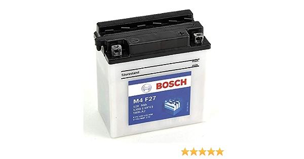 Bosch M4F27 Bater/ía motocicleta YB9L-A2-12V Plomo 9A//h-80A