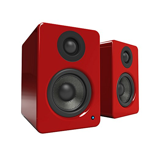 "Kanto YU2 3"" 2-Way Powered Desktop Speakers (Pair) Gloss Red YU2GR"
