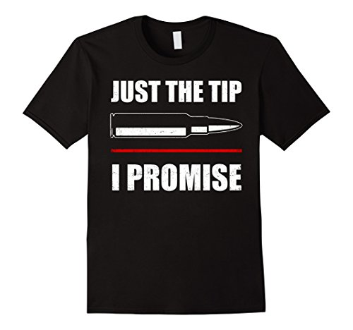 Mens Just The Tip I Promise T-shirt Military Army Soldier Gifts Medium Black