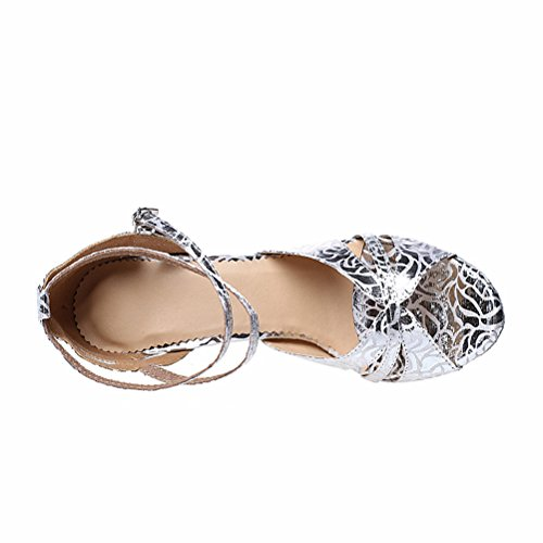 Cxs Ladies Open Toe Party Tacchi Da Sposa Scarpe Da Ballo Per Salsa Tango E Pratica, 3,9 Tacco