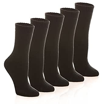 HERHILLY Womens Winter Warm Socks - Thick Soft Solid Color