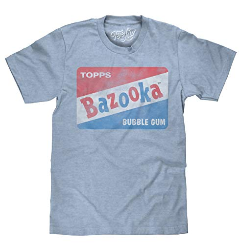 Tee Luv Vintage Bazooka Bubble Gum Licensed Topps T-shirt-XX-large Light Blue Heather