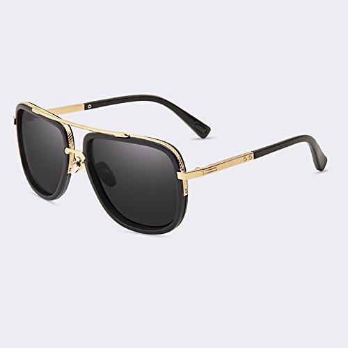 lujo gafas gafas polarizadas sol TIANLIANG04 de alta calidad hombres de lente de de C02Gold tan C01Gray masculinos wqwft60