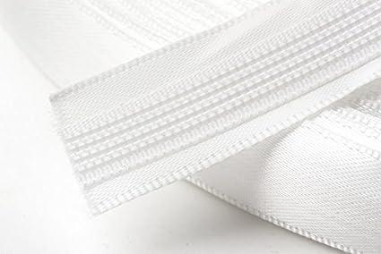 Hemline Satin Covered Polyester Boning 15mm Wide Per Metre White