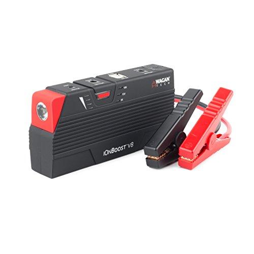 - Wagan Black 55.5 Wh EL7503 iOnBoost 600A Lithium Jumpstarter & Battery Bank