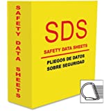 Aurora 13086 3-Inch Capacity Heavy Duty Yellow D Ring SDS Binder