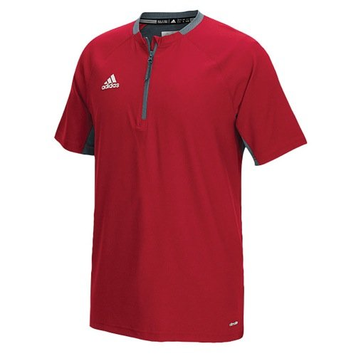 adidas Mens Fielder's Choice Cage Jacket, Power Red/Onix Grey, X-Small