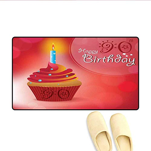 Door-mat Sun and Stars Concept with Creamy Delicious Cupcake Blue Candlestick Bath Mats for Floors Red Orange Blue 16