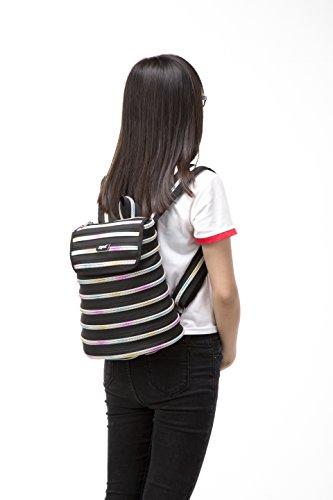 ZIPIT Black Zipper Teeth Rainbow Backpack Black amp; Silver Teeth amp; EETRrnqHx