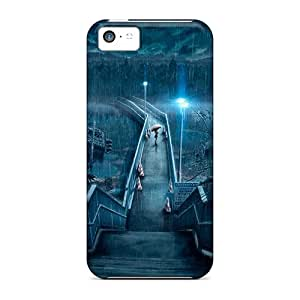 Durable Protector Case Cover With Promenade In The Rain At Night Hot Design For Iphone 5c