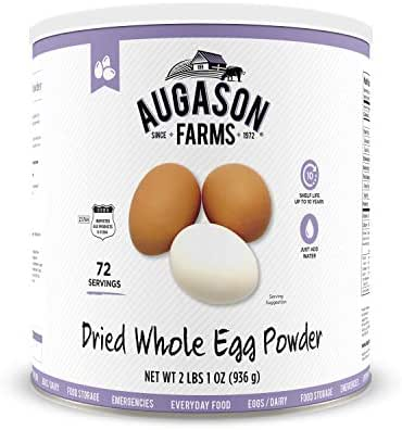Augason Farms Dried Whole Egg Product 2 lbs 1 oz No. 10 Can