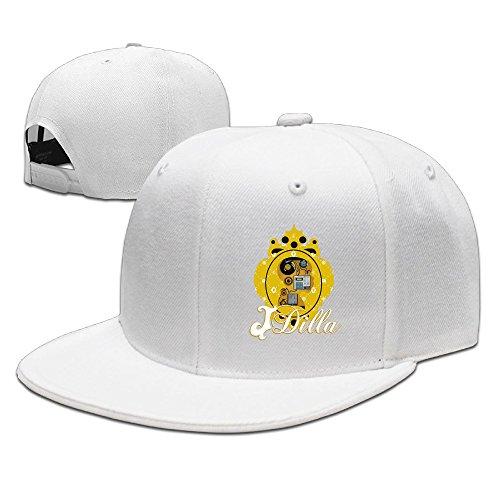 BAI XUE J Dilla Logo Baseball Hat Cap White