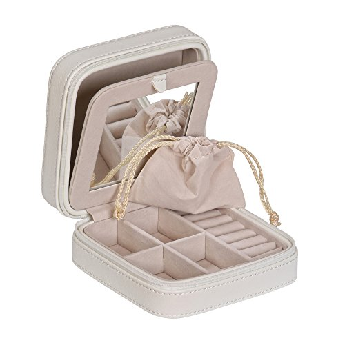 Mele & Co. Dana Travel Jewelry Case in Faux Leather (Ivory) by Mele & Co. (Image #2)