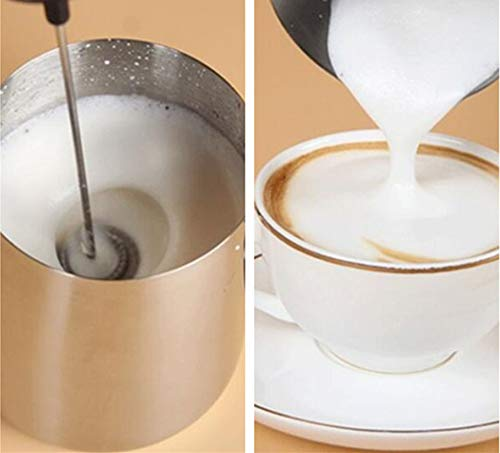 Milk Frother Handheld Coffee Drink Mixer Milk Foam Maker for Cappuccino Hot Chocolate Latte with 2-Speed Stainless Steel Whisks, Powered by Battery(Not Included) by YHOME (Image #2)