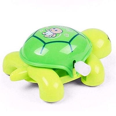 Yiphates 1Pcs Plastic Clockwork Crawling Turtles Tortoise Toy Wind Up Toys Random Color: Toys & Games