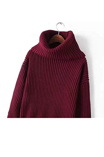 Longues For V En couleur Unique Winter Zhrui Orange Warm Tops Manches Avec Taille Women À Sweaters Vin Col t8x7qf