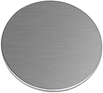 MHUI 304 Espesor De Placa De Acero Inoxidable Aleaciones De Chapa Redonda De 4 mm Moldes De Bricolaje, Diámetro: 150 mm,Diameter: 200 mm