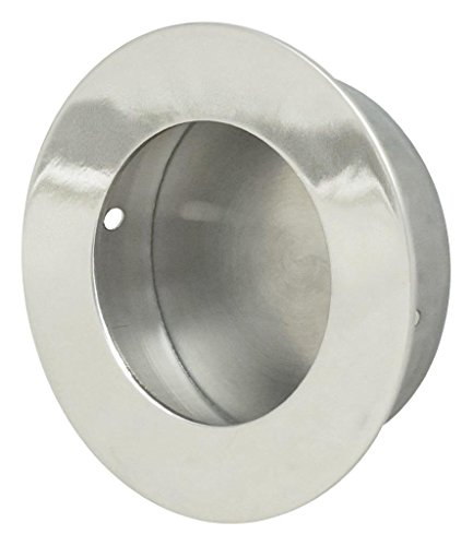 Stainless Steel Cup Pulls - INOX FHIX01-32 Concealed Fixing Round Pocket/Cup Pull With Circular Opening, Polished Stainless Steel
