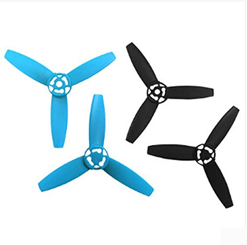 Parrot Original Bebop Drone Quadcopter Accessories Replacement Props CW+CCW 3-Leaf Plastic Screw Propellers For Parrot Bebop 3.0 Helicopter - Blue x 2 and Black x 2