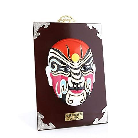 Handpainted Beijing Opera Character Facial Mask Makeup Art Crafts Theme Restaurant Wall Decor Table Display Gift 12
