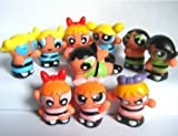 Powerpuff Girls 10 Piece Figure Playset Featuring 10 Power Puff 1' Figures Including Blossom, Bubbles, and Buttercup