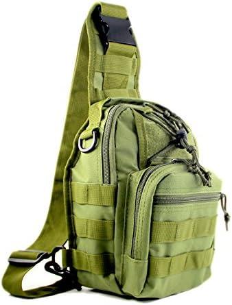 SHARK ARMY Militärischer Taktischer Rucksack Wanderrucksack Daypacks Chest Pack Umhängetasche Brusttasche MBB004 …