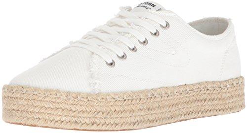 Tretorn Women's Eve Sneaker, Vintage White, 6 Medium US