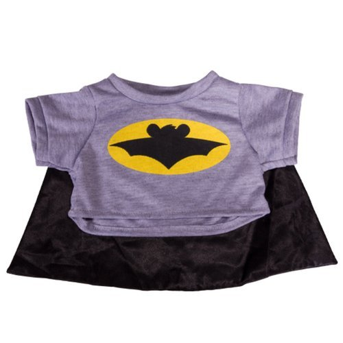 - Stuffems Toy Shop Bat Bear T-Shirt With Cape Teddy Bear Clothes Fits Most 8
