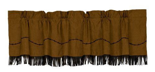 HiEnd Accents Fringed Barbwire Western Valance ()