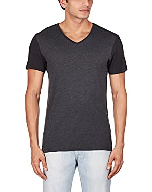 Men's Harm Shortsleeve V-Neck Tee In Compact Jersey Fearn