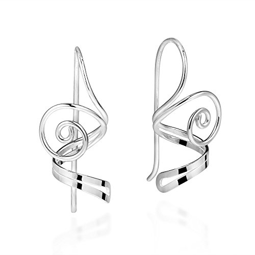 Eternal Spiral Lace .925 Sterling Silver Dangle Earrings ()