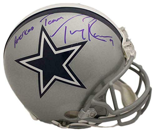 (Tony Romo Signed Helmet - Proline Americas Team BAS 22477 - Beckett Authentication - Autographed NFL Helmets)