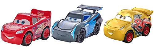 Disney/Pixar Mini Racers Cars 3 Series Metal Vehicles, 3 Pack