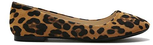 Max. Collectie Mogen Dames Balletschoenen Alle Kleuren Suede-luipaard