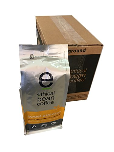 Ethical Bean Coffee - Sweet Espresso Whole Bean 12 oz (Pack of 6)