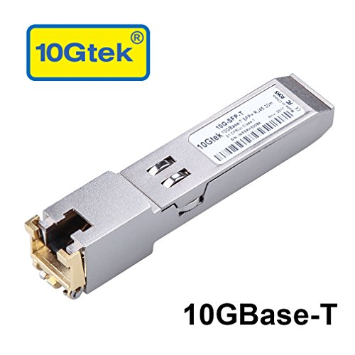 10Gtek Cisco SFP-10G-T-S Compatible 10GBase-T SFP+ 10 Gigabit RJ45 Copper Transceiver 30-Meter by 10Gtek
