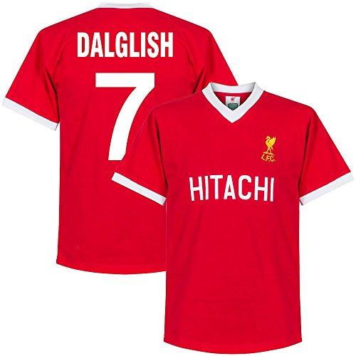 1978 Liverpool Home Retro Shirt + Dalglish 7 (Retro Style Printing) - L -