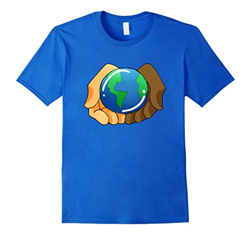 United Nation Day Costume (Mens United Nations Day Earth Illustration Graphic Tshirt Tee XL Royal Blue)