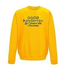 Brand88 Please Don't Kill My Character, Adults Printed Sweatshirt