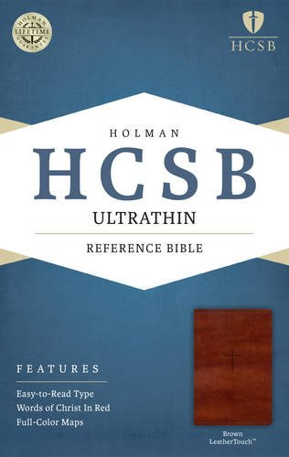 - HCSB Ultrathin Reference Bible, Brown LeatherTouch