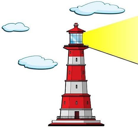 Amazon.com: Lighthouse-2 3D Cartoon Wall Art Color: Orange: Home & Kitchen