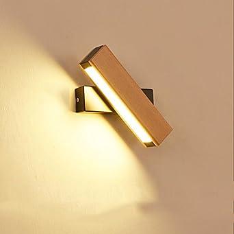 Uus Applique Nordique Applique Chambre Chevet Lampe Solide Bois
