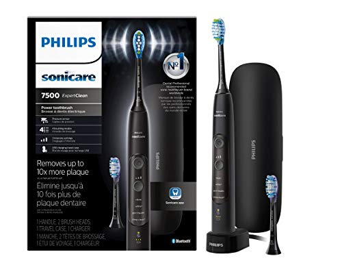 Philips Sonicare ExpertClean 7500 Rechargeable Electric Toothbrush, Black HX9690 05